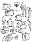 Doodle de comida — Vetorial Stock