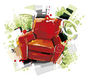 Red Furniture — Stock Vector