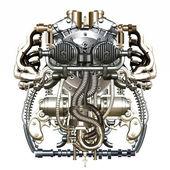 Mechanical figure — Stock Photo