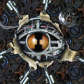 Mechanical eye — Stock Photo