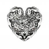 Mechanical Heart with brain — Stock Photo