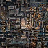 Background Pattern metallic — Stock Photo