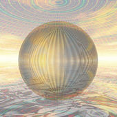Metal ball in spherical environment — Stock Photo