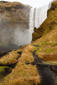 Path in skogafoss waterfall — Stock Photo