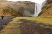 Skogafoss waterfall and river — Stock Photo