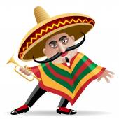 Mexican trumpeter — Stock Vector