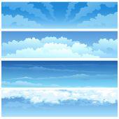 Skyscape set — Stock Vector