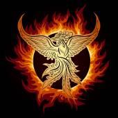 Phoenix in Flame — Wektor stockowy
