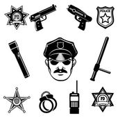 Police icon Set — Stock Vector