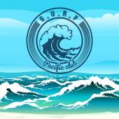 Surf Club — Stock Vector