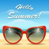 Hello Summer Theme — Stock Vector
