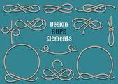 Rope Design Elements — Stock Vector