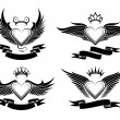 Winged Hearts Set — Stock Vector #73918899
