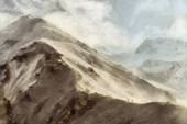 People hiking in Himalaya illustration — Stock Photo