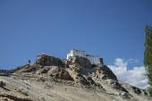 Ancient Buddhist temple on cliff — Stock Photo