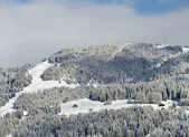 Alpine resort winter landscape — Stock Photo