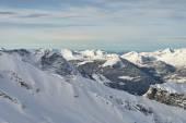 Alpine winter mountain range — Stock Photo
