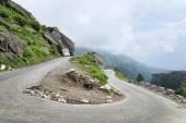 U turn road in Himalayas — Stock Photo