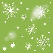 Snow star green — Stock Vector