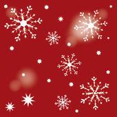 Snow star dark red — Stock Vector