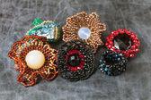 Beads jewelry designs — Stock Photo
