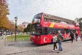 Tourist bus in Sultanahmet Square — Stock Photo