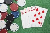 Straight Flush. Casino concepts — Stock Photo