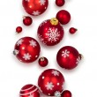 Different Christmas balls isolated on white background. — Stock Photo #53991613