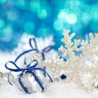 Snowflake on snow. — Stockfoto #54062713