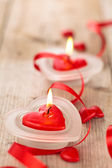 Heart shaped candles . — Zdjęcie stockowe