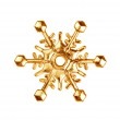 Golden snowflake. — Stock Photo #56057731