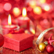 Gift and candles. — Stock Photo #56084573