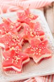 Star shaped appetizers. — Stock Photo