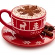 Hot chocolate for Christmas day. — Stock Photo #56804225