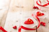 Heart shaped candles .  — Stock Photo