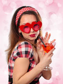 Young woman with glasses. — Stock Photo