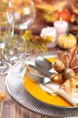 Autumn place setting . — Stock Photo