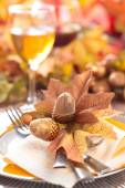 Thanksgiving dinner decoration. — Stock Photo
