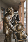 Albert Einstein statue — Stock Photo