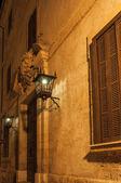 Palácio Real portão entrada almudaina — Fotografia Stock