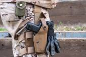 Pistol with holster — Stock Photo