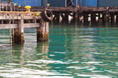 Mooring pier fishing — Stock Photo