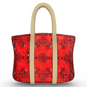 Red Cloth Bag — Stock Photo