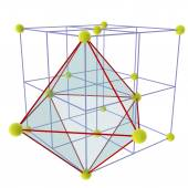 Locating Octahedral voids — Stock Photo