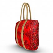 Röd tygpåse — Stockfoto