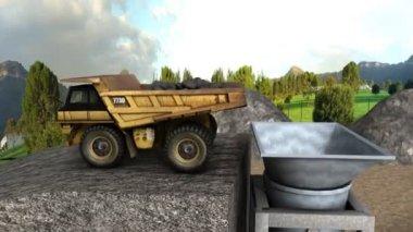 Portland cement making process — Stock Video
