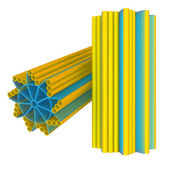 Centriole structure on white — Stock Photo