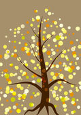 Beautiful tree with colorful spots fall autumn colors — Stock Vector