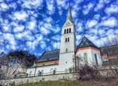 Catholic Church, Bled, Slovenia — Stock Photo