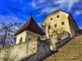 Architecture on Bled Island — Stock Photo